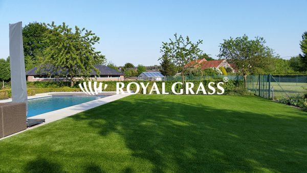 Project: Kunstgras tuin te Werchter met Royal Grass XL